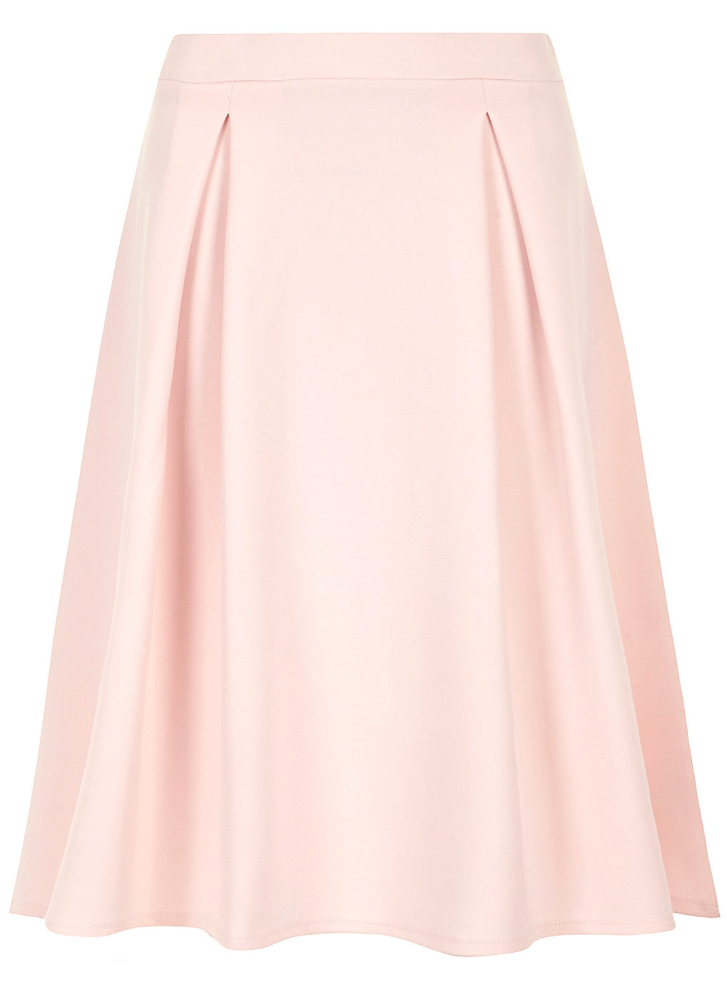 dorothy perkins pale pink pleated midi skirt wrinkle