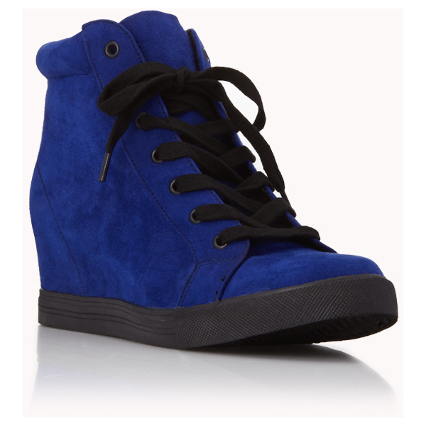 Forever 21 Electric Wedge Sneakers  51439133c