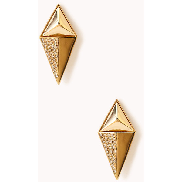 Forever 21 Gold Diamond Shape Stud Earrings