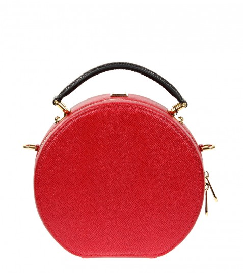 DOLCE   GABBANA Red Leather Anna Bag   LATEST WRINKLE 97d7c057ff