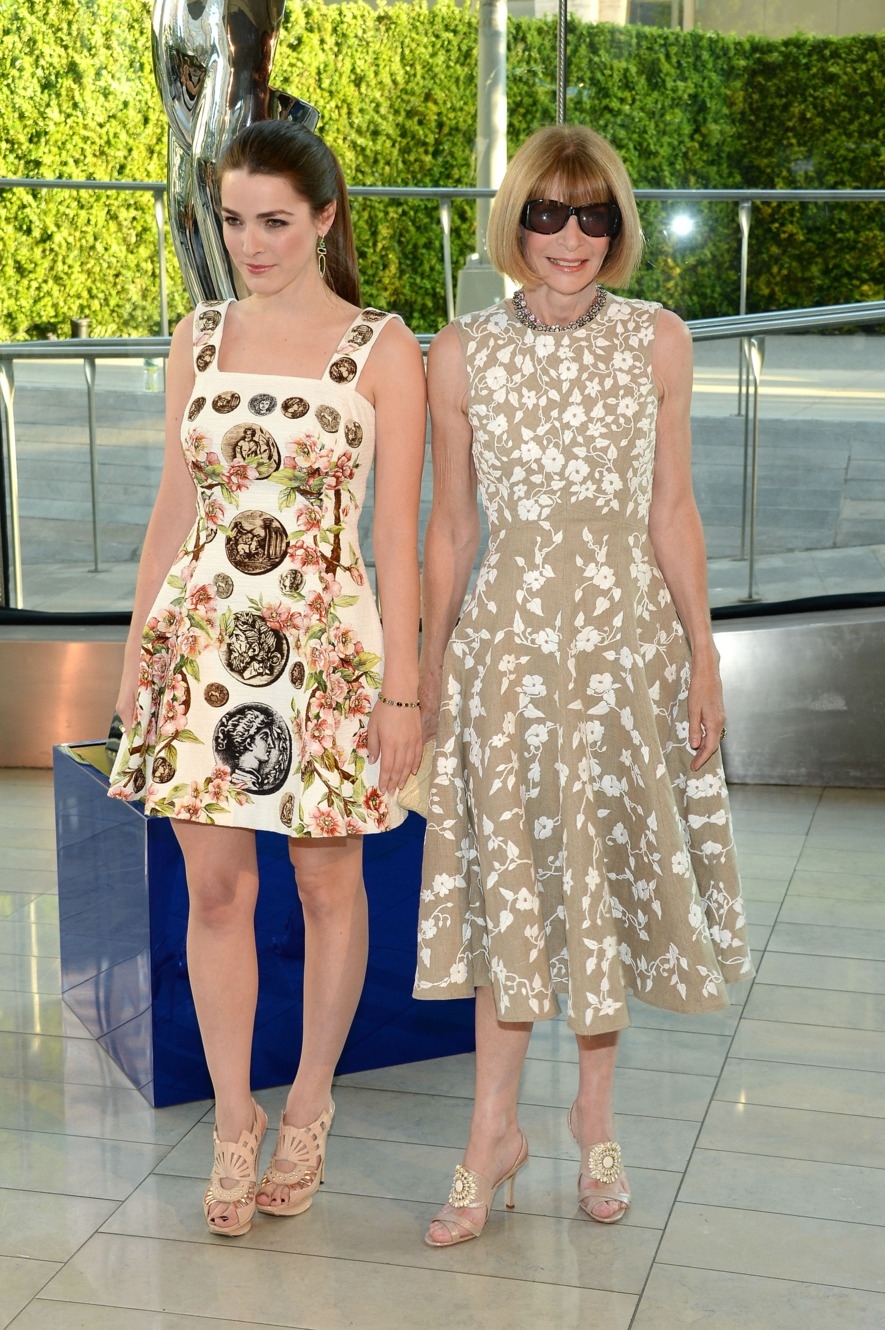 Bee Shaffer Anna Wintour Bee Wears Dress By Dolce