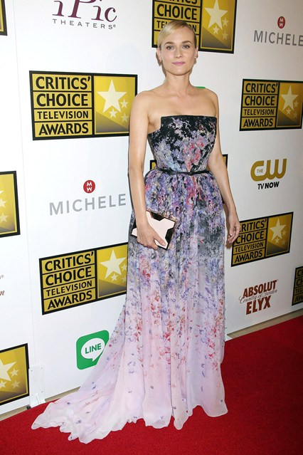 Diane Kruger wore a gown by Elie Saab. Critics' Choice ...