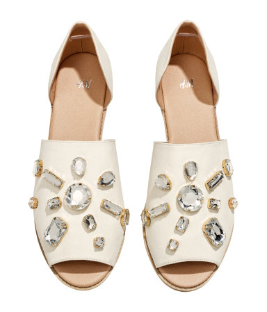 17a7f706e1ce8 H M Sandals with sparkly stones  39.95