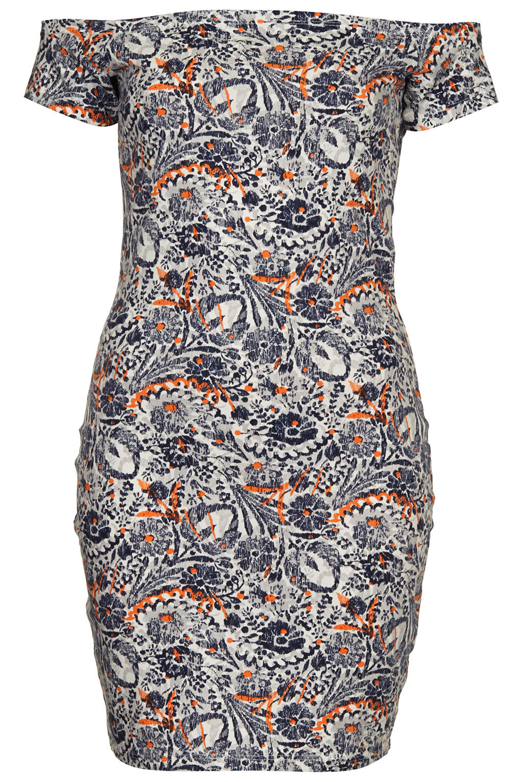 Topshop Off Shoulder Floral Bodycon Dress By Annie