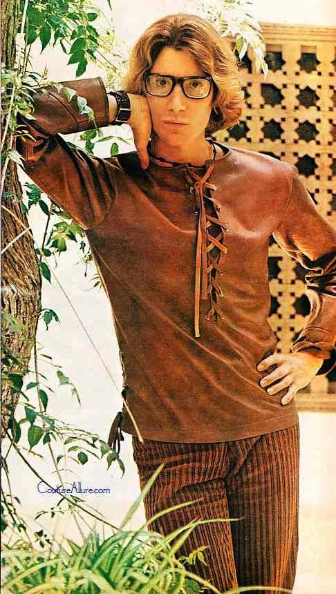 Vintage Men's Flared Jeans & Polyester Shirt from a 1969 catalog ...