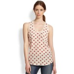 Joie Alicia Silk Lip-Print Tank from Saks