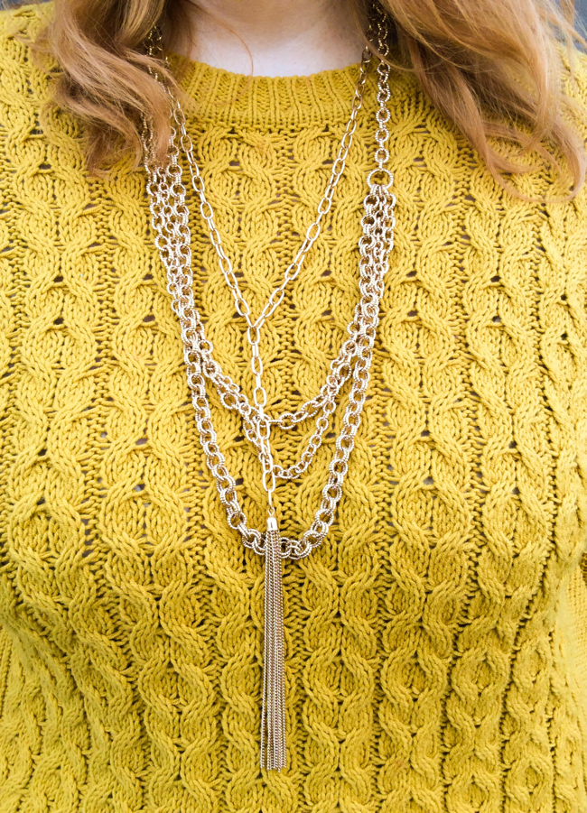 Cable Knit and Houndstooth
