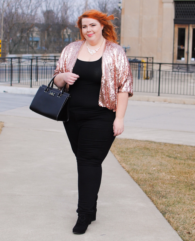 Rose Colored Sequins