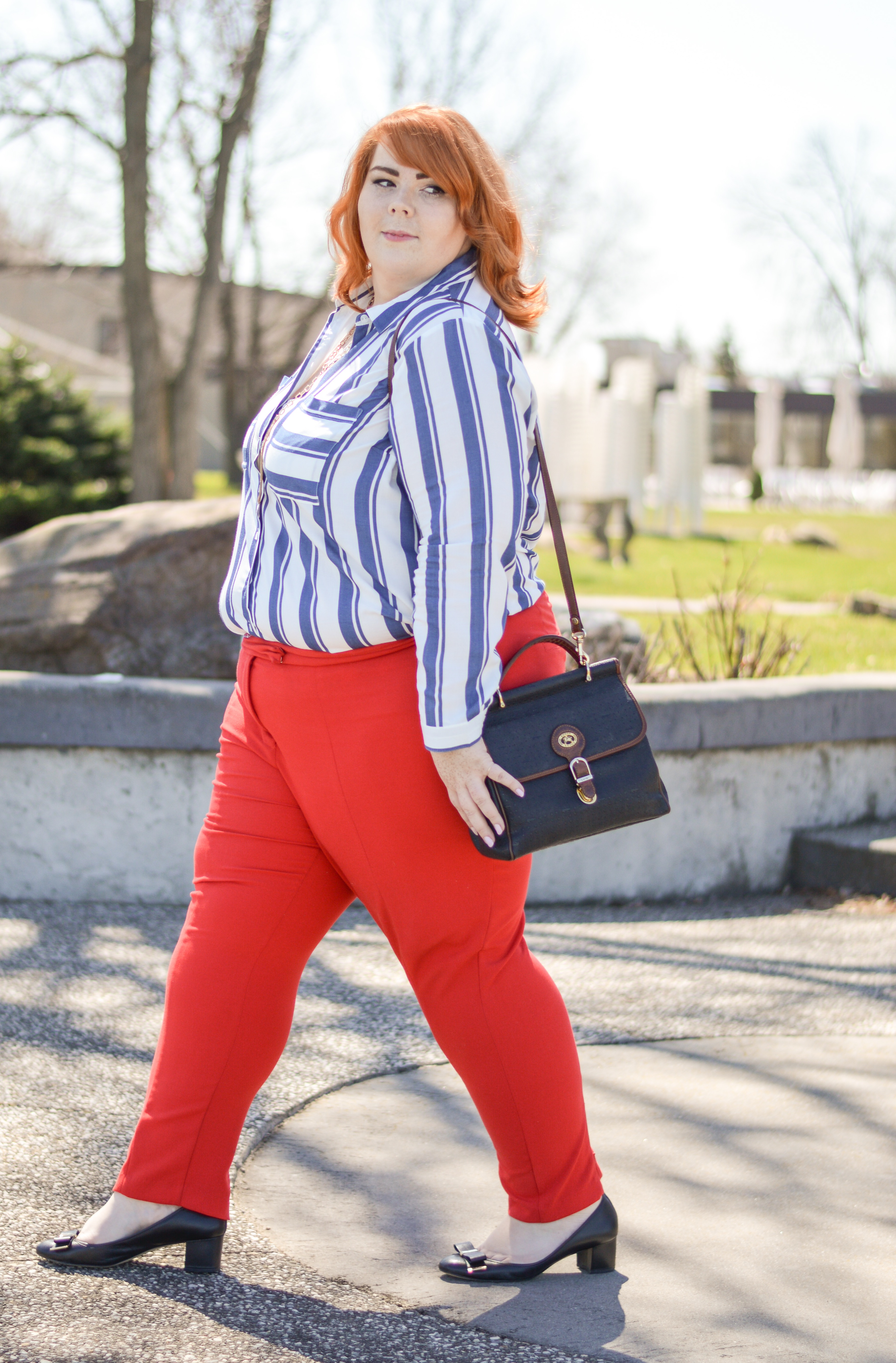 Red Pants | Striped Shirt | {LATEST WRINKLE}