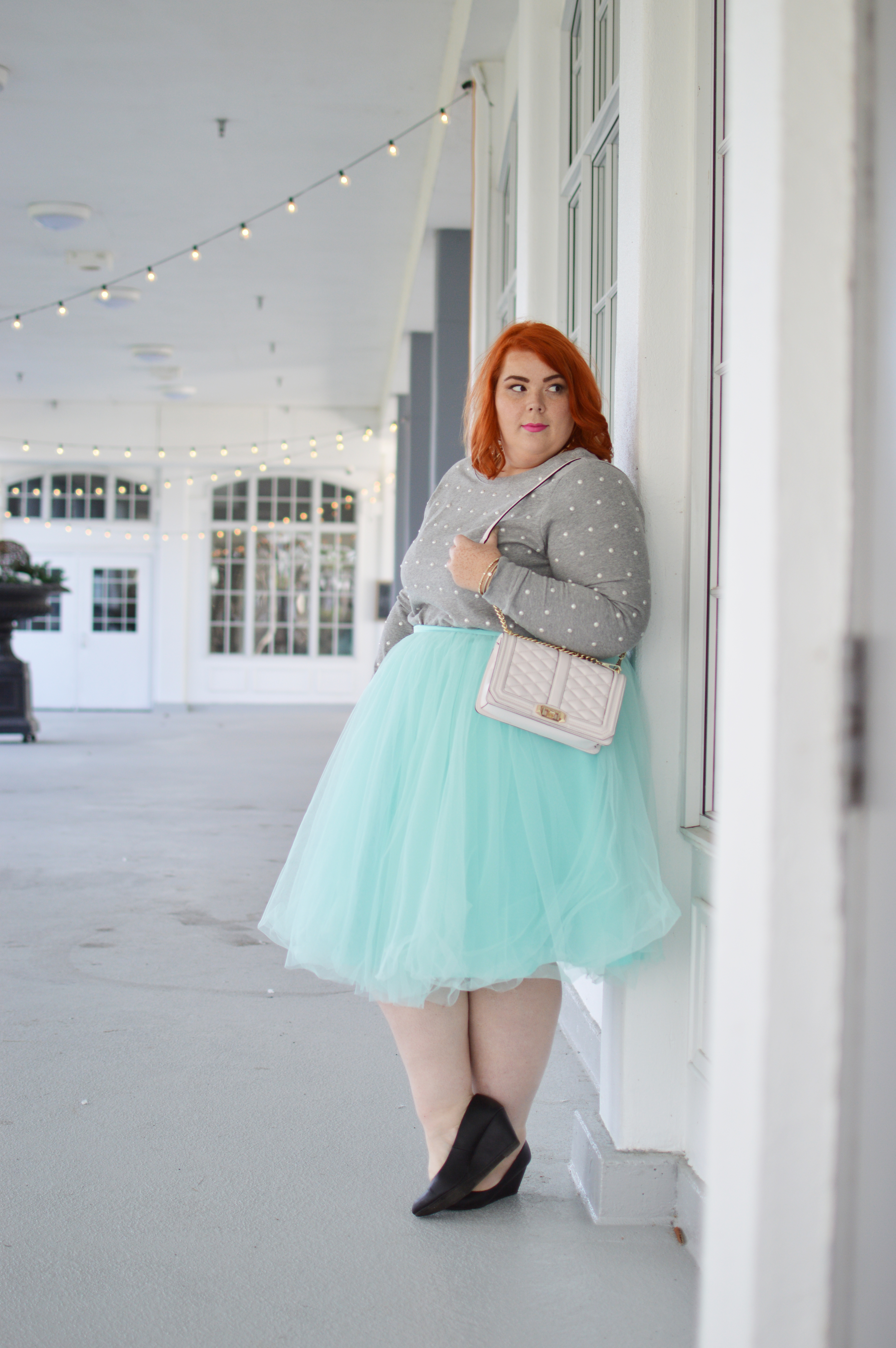 Pearl Sweater + Tulle Skirt