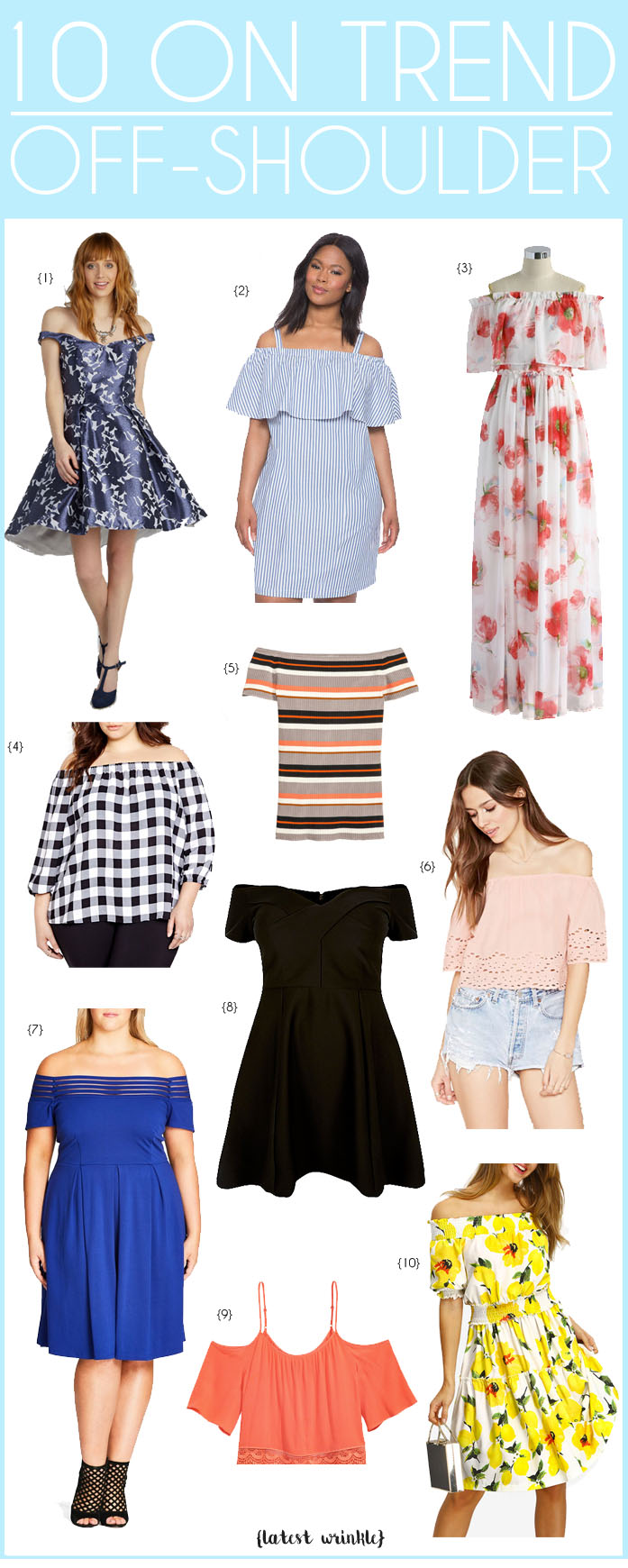 10 ON TREND | OFF-THE-SHOULDER